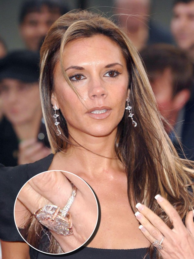 how many enement rings victoria beckham really owns gleem life - Victoria Beckham Wedding Ring