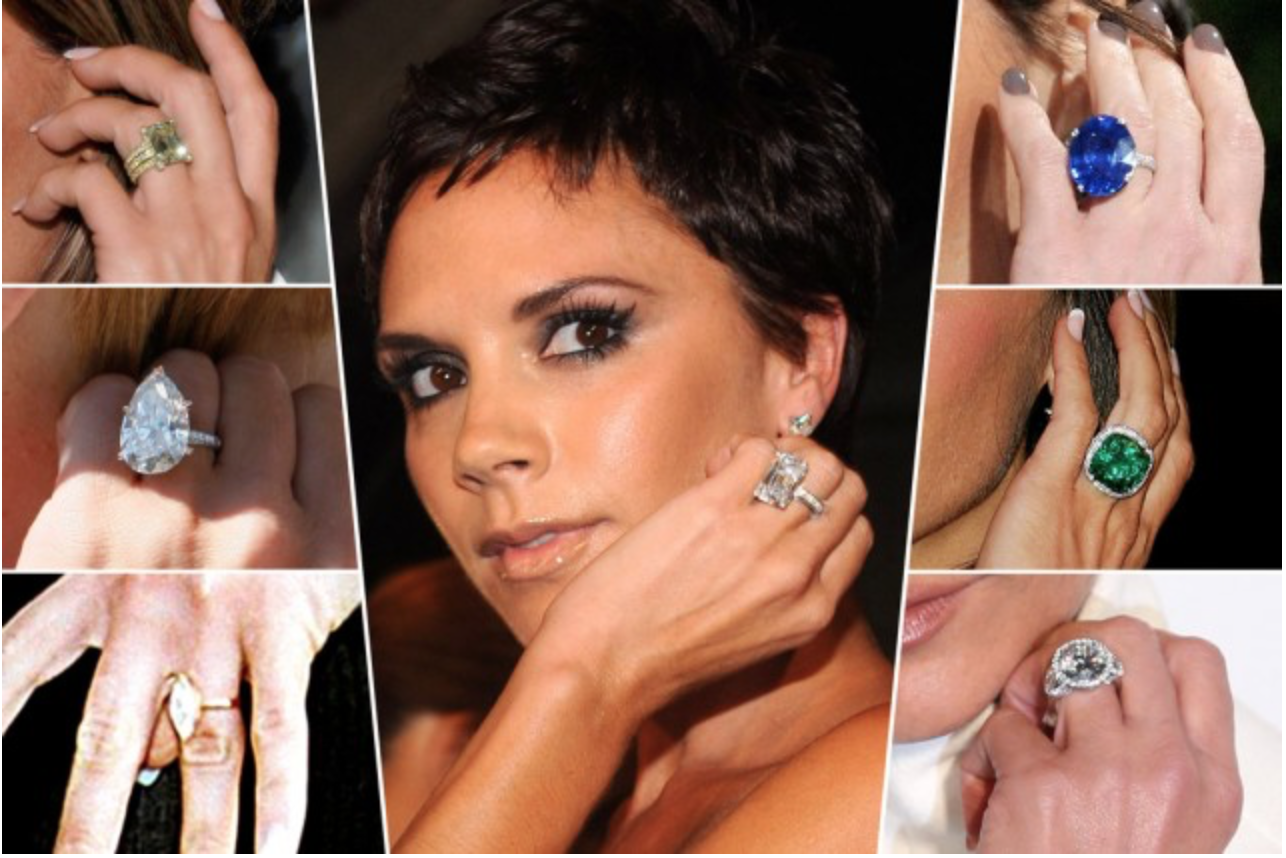 Superieur How Many Engagement Rings Victoria Beckham Really Owns